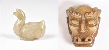 (2) Chinese Carved Hardstone Pieces