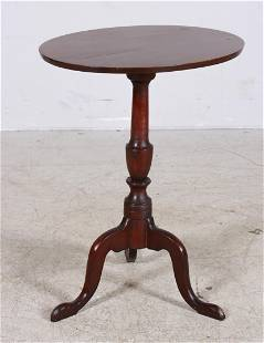 Oval cherry American candle stand
