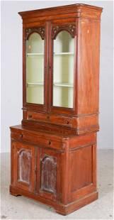 2-pc Poplar cottage china cabinet