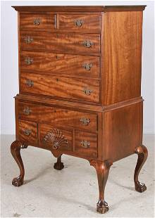 1-pc Mahogany Chippendale style highboy