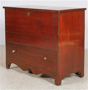Pine New England lift lid blanket chest