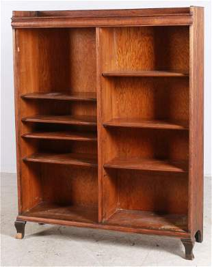 Oak open front bookcase