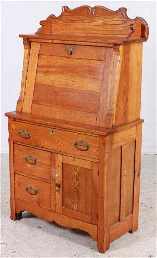 Oak Victorian Slant Front Ladies Desk