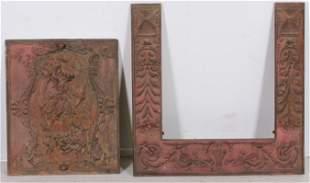 Cast Iron Art Nouveau Fireplace Insert