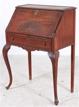 Carved Mahogany Victorian Ladies Desk