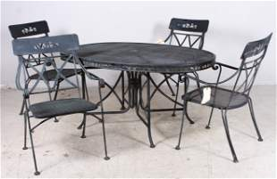 Oval metal patio table with grill top