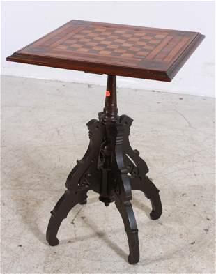 Walnut Victorian game pedestal table