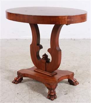 Walnut mahogany Empire style lamp table