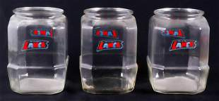 (3) Lance Crackers Store Display Jars