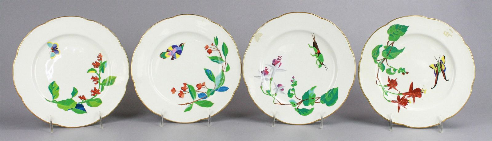 (4) Paris Exposition 1878 Porcelain Plates