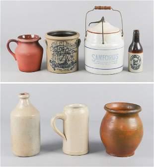 (7) Pcs Pottery