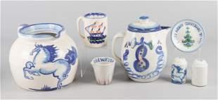 (7) Pcs MA Hadley Pottery