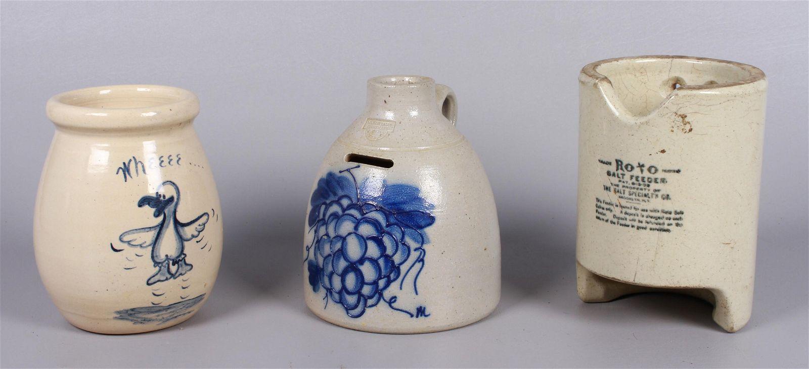 (3) Pcs Pottery