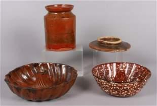 (4) Pcs Pottery & Porcelain