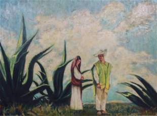 Emil Rhodes Painting Latin American Couple