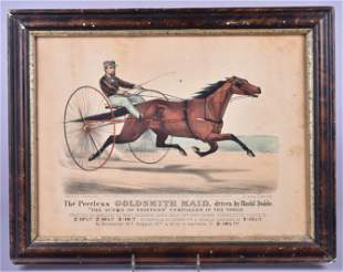 Currier & Ives Hand Colored Print