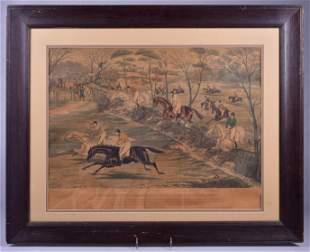 Charles Hunt Horse Racing Engraving