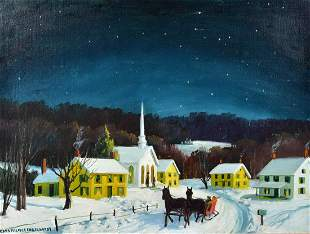 Edna Palmer Engelhardt Winter Landscape