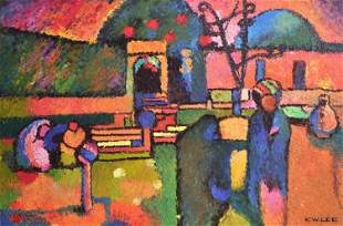 K W Lee Modern Orientalist Painting