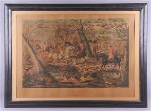 Charles Hunt hand colored Hunt print