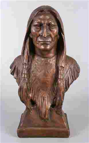 Marwal Sculpture Native American Bust