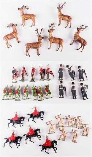 Britains Lead Toy Soldiers and Deer