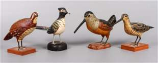 (4) Carved & Painted Bird Figures