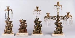 3-Piece Gilt Bronze Girandole Garniture Set