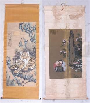 (2) Chinese Scrolls