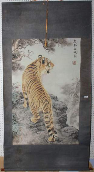 Chinese Tiger Scroll