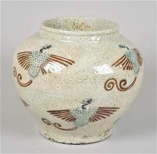 Korean Style Glazed Pottery Vase