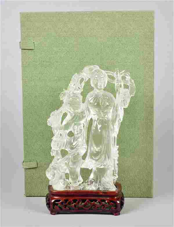 Chinese Crystal Figure