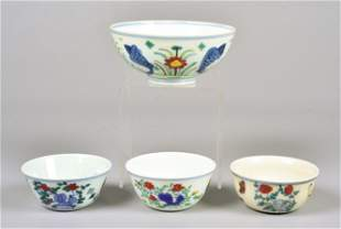 (4) Chinese Porcelain Bowls
