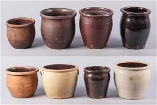 (8) stoneware crocks