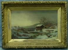 183 American School 1920th c oc Winter Landscape