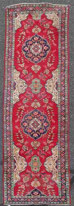 """3'6"""" X 14'6"""" Semi Antique Persian Tabriz Runner"""