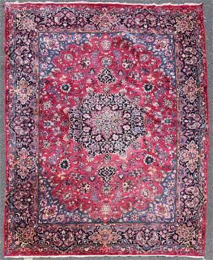 """7'8"""" X 11'8"""" Semi Antique Persian Mashad Rug"""