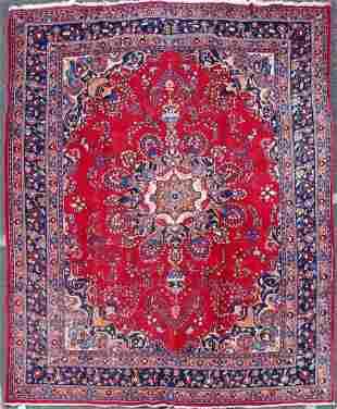 "9'6"" X 12'6"" Semi Antique Persian Tabriz Rug"