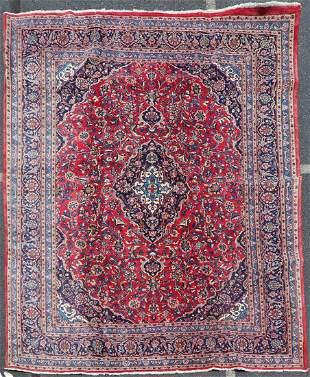 "10'6"" X 12'8"" Semi Antique Persian Tabriz Rug"