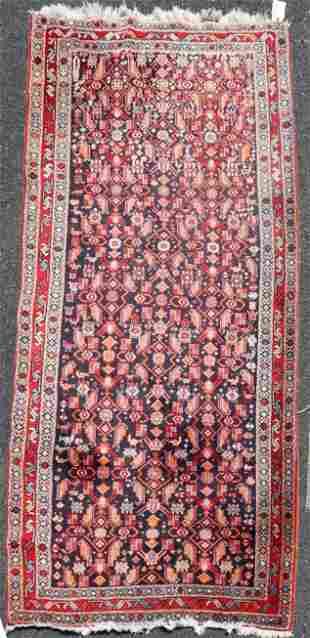 """4'6"""" X 9'8"""" Semi Antique Persian Tabriz Runner Rug"""