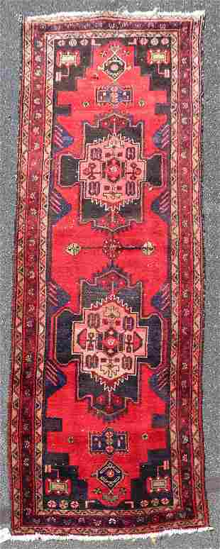 "3'5"" X 9'9"" Persian Hamadan Rug"