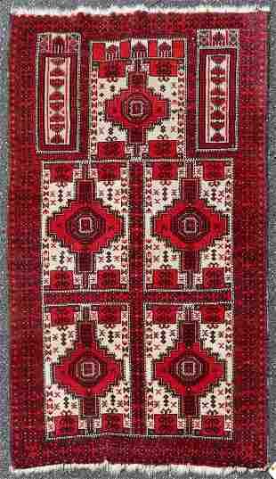 3' X 5' Persian Baluch Prayer Rug