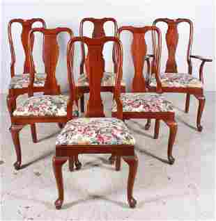 (6) Knob Creek Queen Anne style mahogany side chairs