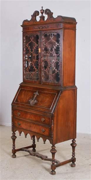 Mahogany 2-pc secretary desk