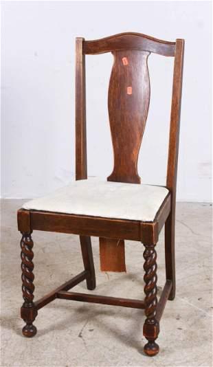 Oak carved side chair
