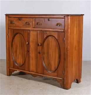 Victorian carved walnut server