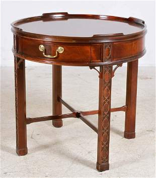 Baker Chinese Chippendale style mahogany side table