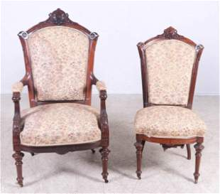 (2) Victorian rosewood chairs