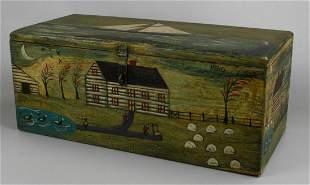 Kathy Graybill paint decorated 'Plantation' box