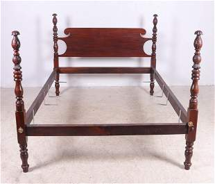 Carved mahogany Federal style double bed